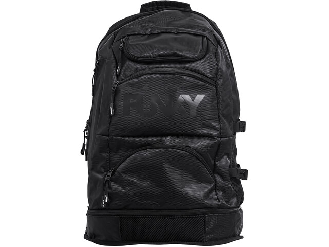 Funky Trunks Expandable Elite Squad Mochila, back to black